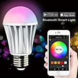MagicLight® Bluetooth Smart LED Light Bulb - Smartphone Controlled Dimmable Multicolored Color Changing Lights - Works with iPhone, iPad, Android Phone and Tablet