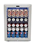 Whynter BR-091WS Beverage Refrigerator with Lock, 90 Can Capacity, Stainless Steel