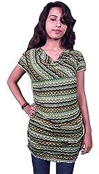 Miraaya Women's Tunic (M2419C_7062_Green_XX-Large)