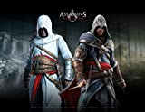 Assassin's Creed Wallscroll Altair and Ezio in Blackroom