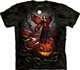The Mountain - Halloween Fairy Pumpkin Patch Tie Dyed: Charcoal T-Shirt