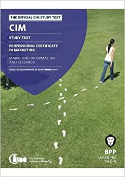 cim marketing information and research Cim - creating marketing advantage for the benefit of professionals, business and  society  progress your marketing career  the direct study centre of cim.