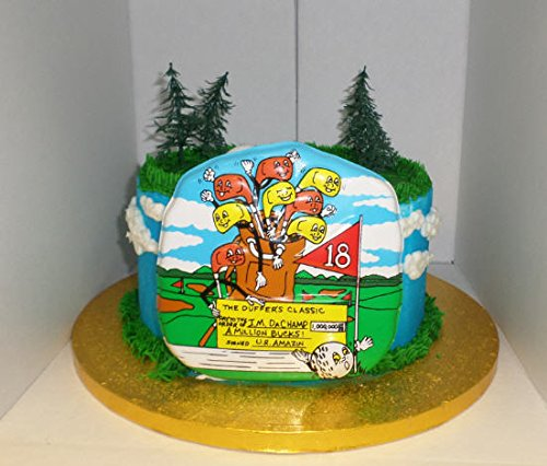 CakeSupplyShop Item#457a Happy Golf Club Cake Decoration Topper