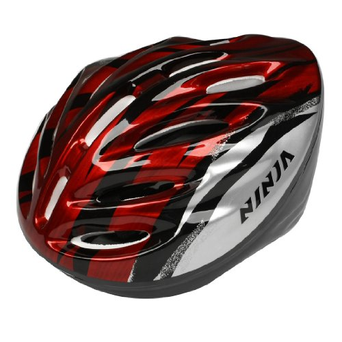 man-woman-skateboard-bicycle-bike-cycling-skating-foam-helmet-red-black