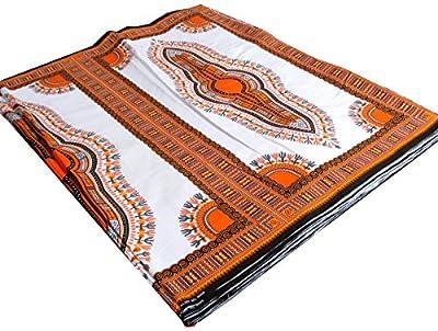 RaanPahMuang African Dashiki White Cotton Fabric for 1 Childrens Shirt Design