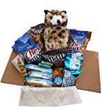 Snack/Care Package – Bundle of Single-serving Snacks Like Chex Mix, Breakfast Bars and Cookies for Energy and Toys for Fun Featuring an 8″ Stuffed Osmond the Owl, Great Gift for College or Boarding Student (Owl Lg) thumbnail