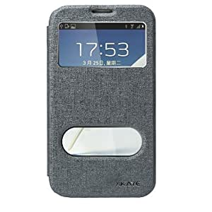 XKAYE Oracle Series of Flip Leather View Smart Case Cover For Samsung Galaxy Note 2 (GRAY)