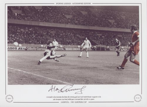 Alan Kennedy Liverpool Scores European Cup Final 1981 – Signed Limited Ed