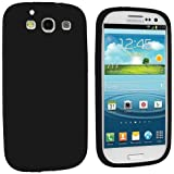 Generic Silicone Rubber Gel Soft Skin Case Cover for Samsung Galaxy S3 i9300/I535/L710/T999/I747 - Retail Packaging - Black
