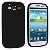 Soft Silicone Skin Case for Samsung Galaxy S3 i9300 (#Black#)