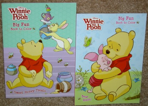Disney Winnie the Pooh and Friends Coloring Books & Winnie the Pooh Crayons Set A - 1