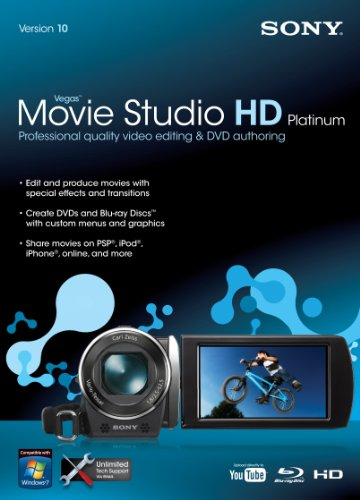 Sony Vegas Movie Studio HD Platinum 10  [OLD VERSION] (Sony Movie Studio Platinum 10 compare prices)