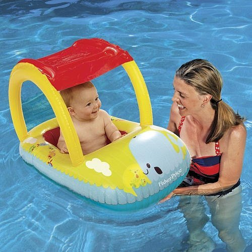 Fisher Price Sun Cover Baby Boat Set-Yellow - 1