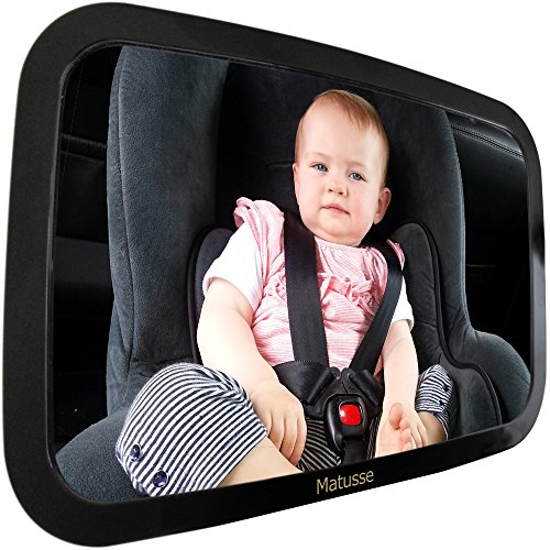 Baby Car Mirror - 54% Off | Back Seat Rear-facing Infant In Sight | Extra Large Crystal Clear Reflection | Shatterproof & Lightweight | Great for Baby Shower Gift & Baby Registry
