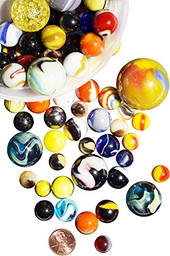 Colored Marbles For Probability Lesson : My toy house glass marbles with portable container
