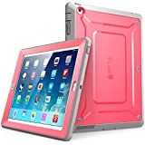 iPad Case, SUPCASE [Heavy Duty] Apple iPad Case [Unicorn Beetle PRO Series] Full-body Rugged Hybrid Protective Case Cover with Built-in Screen Protector for the New iPad 4 & 3 (3rd and 4th Generation with Retina Display) / iPad 2, Dual Layer Design + Impact Resistant Bumper (Pink/Gray)