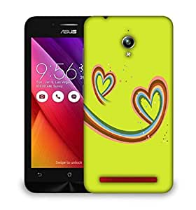 Snoogg Abstract Valentine Hearts Designer Protective Phone Back Case Cover For Asus Zenfone GO
