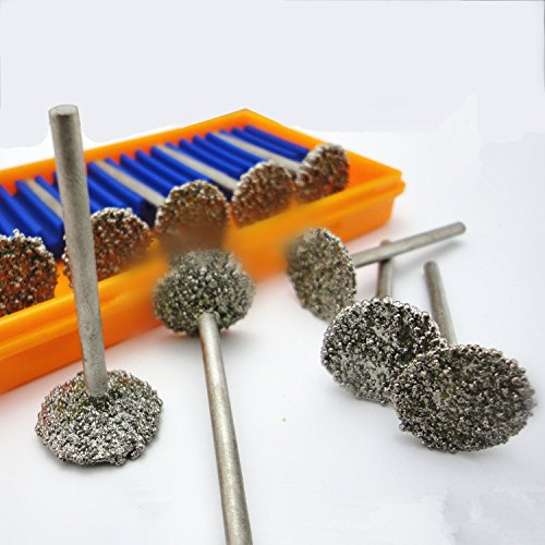 10Pc Grinding Tool Kit Diamond Abrasive Head Diamond Grinding Wheel For Jade Polishing And Carving