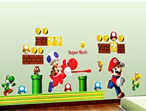 super mario 3 mario lichtschalter sticker umsonst wandtattoo wall sticker kinderzimmer bogen. Black Bedroom Furniture Sets. Home Design Ideas
