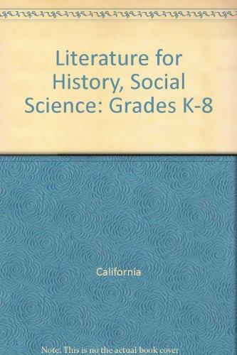 Literature for History, Social Science: Grades K-8