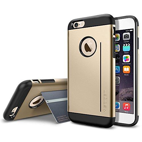 iPhone 6 ケース Spigen [スタンド機能] スリム アーマーS iPhone 4.7 (2014) カバー (国内正規品) (シャンパン・ゴールド SGP10961)