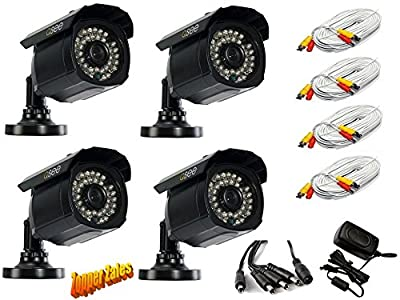 900 TVL Q-See 4-pk Security Camera with 100 ft Night Vision & 60 ft Cable, model QM9902B