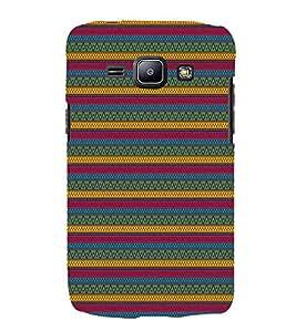 Green Indian Design 3D Hard Polycarbonate Designer Back Case Cover for Samsung Galaxy J1 :: Samsung Galaxy J1 J100F (2015)