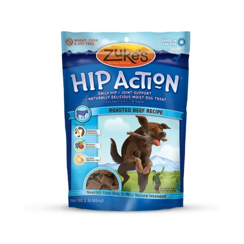 Zuke's Hip Action Natural Dog Treats Roasted Beef Recipe, 16-Ounce
