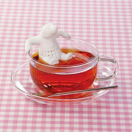 [シリコン製 アニマル 茶こし ホッキョクグマ 1個入り ]  動物 ティーインフューザー/ティーストレーナー / アニマルミュージアムカフェ