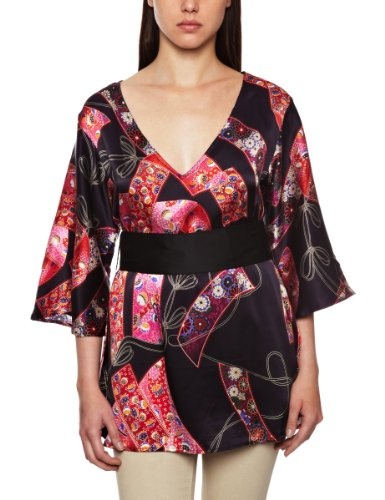 Aguaclara Barrio Chino 100% Silk Cover-up Womens Coverups and Sarongs Print 12
