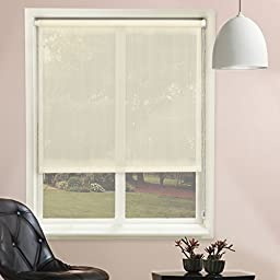 Chicology Roller Shade, Clutch Lift System, Continous Loop, Sheer Fabric, Lydia Cream (Cream), 48\