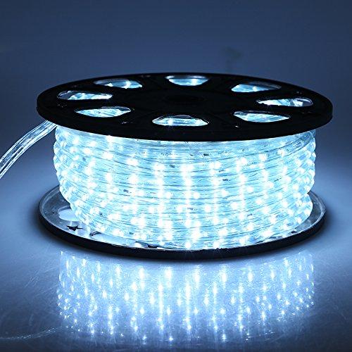 Indoor Outdoor Led Light Strip: Christmas Lighting LED Rope Light 150ft Waterproof