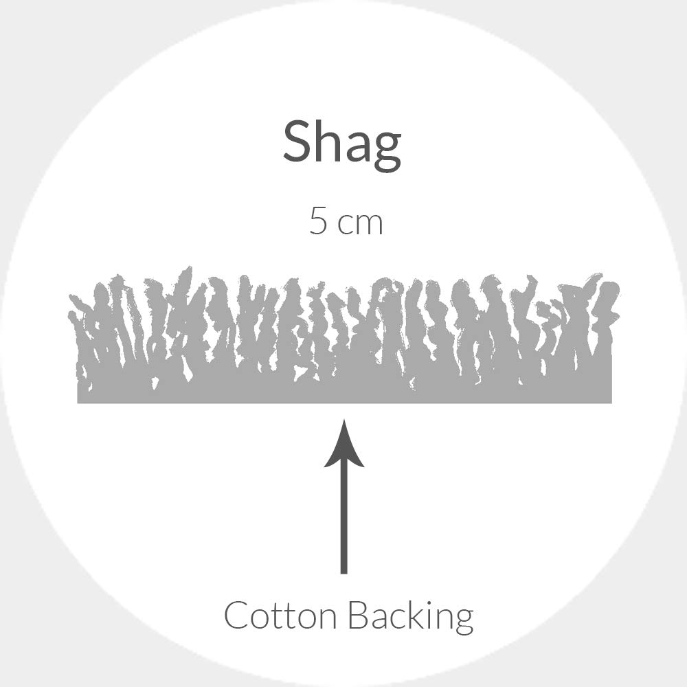 "Safavieh California Premium Shag Collection SG151-9090 Black Runner (23"" x 5)"