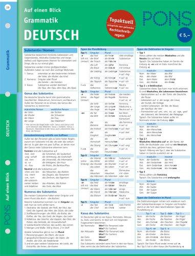 PONS Grammatik auf einen Blick. Deutsch