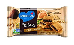 Barbara's Bakery Fig Bars, Whole Wheat, 12-Ounce Tray (Pack of 6)