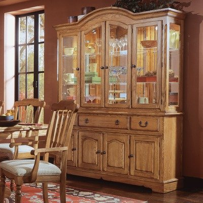 Cheap Cochrane Thresher's Too Buffet and Hutch in Distressed Antique Oak 85-662 / 85-663 (85-662 / 85-663)