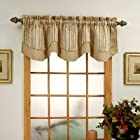 Windsor Scalloped Layered Valance - BURGUNDY color