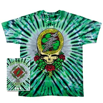 grateful dead mens shamrock syf tie dye t