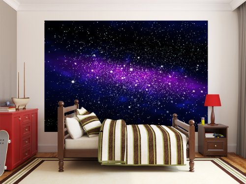 galaxie fototapete weltraum wandbild sternenhimmel xxl wanddeko kinderzimmer 336 cm x 238. Black Bedroom Furniture Sets. Home Design Ideas