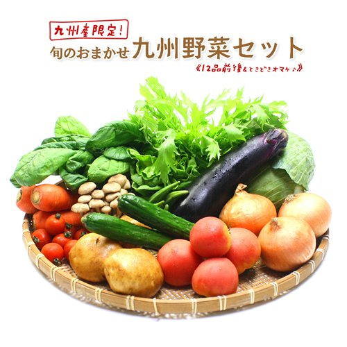 旬のおまかせ 九州 野菜セット ☆12品以上+ときどきオマケ。 ギフト、プレゼントでも大好評です。