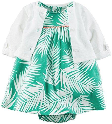 Carter's 2 Piece Dress Set, Leaf Print, 12 Months