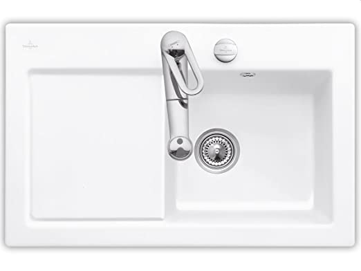 Villeroy & Boch Subway 45 Edelweiss Ceramic Sink Sink Kitchen Sink, White
