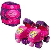 Roller Skates Girls Disney Princess Adjustable Junior Roller Skates and Knee Pads J6-J12