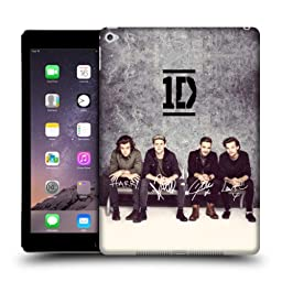 Official One Direction 1D Grey Group Photographs Autographed Hard Back Case Cover for Apple iPad Air 2