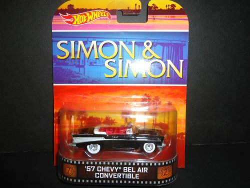 "1957 Chevrolet Bel Air Convertible ""SIMON & SIMON"" Hot Wheels 2014 Retro Series Die Cast Vehicle"