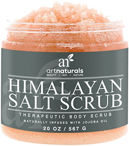 Art Naturals Himalayan Salt Body Scrub 20oz -Deep Cleansing Exfoliator With Shea Butter, Dead Sea Salt, Vitamin C & Essential Oils - Moisturizes, Nourishes Soothes & Promotes Glowing, Radiant Skin