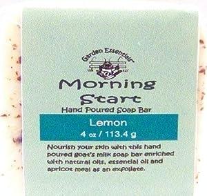 Naturally Pampered Goat's Milk Soap Bar, Morning Start With Lemon,  4 Ounce