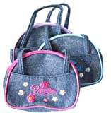 Girls Denim Handbag Style Princess Purse