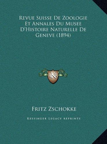 Revue Suisse de Zoologie Et Annales Du Musee D'Histoire Naturevue Suisse de Zoologie Et Annales Du Musee D'Histoire Naturelle de Geneve (1894) Relle d Image