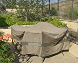 "Patio Set Cover 104""Dia. Fits square, Oval or Round table set, Center hole for Umbrella."
